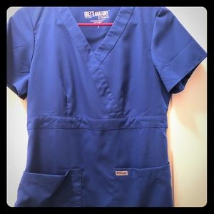 Grey's Anatomy mock wrap scrub top